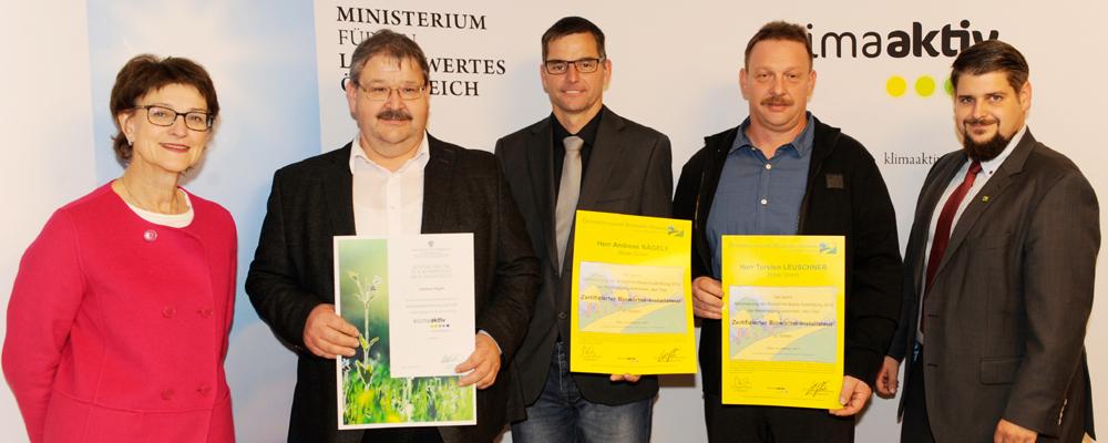 Auszeichnung Klimaaktiv-Profis
